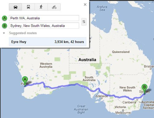 Driving Australia cross-country