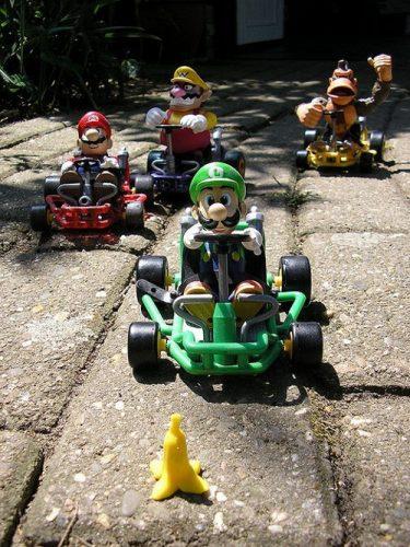 Mario Kart toy race