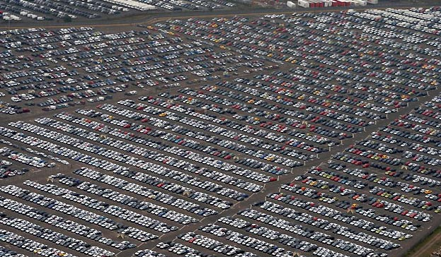 Very large car lot.