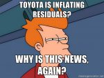 Toyota inflating residuals