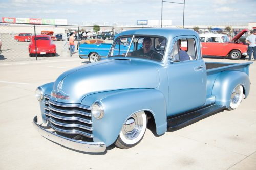 There were many vintage trucks around