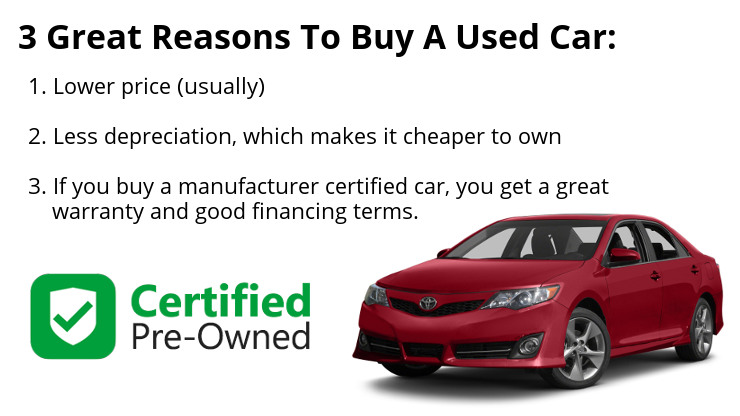 Three great reasons to buy a used car